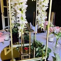 Artificial wedding flower centrepieces and event decoration hire. Glamour events hire based in Chester