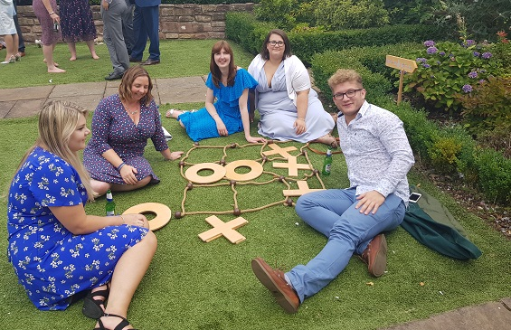 Giant noughts and crosses lawn games, wrexham