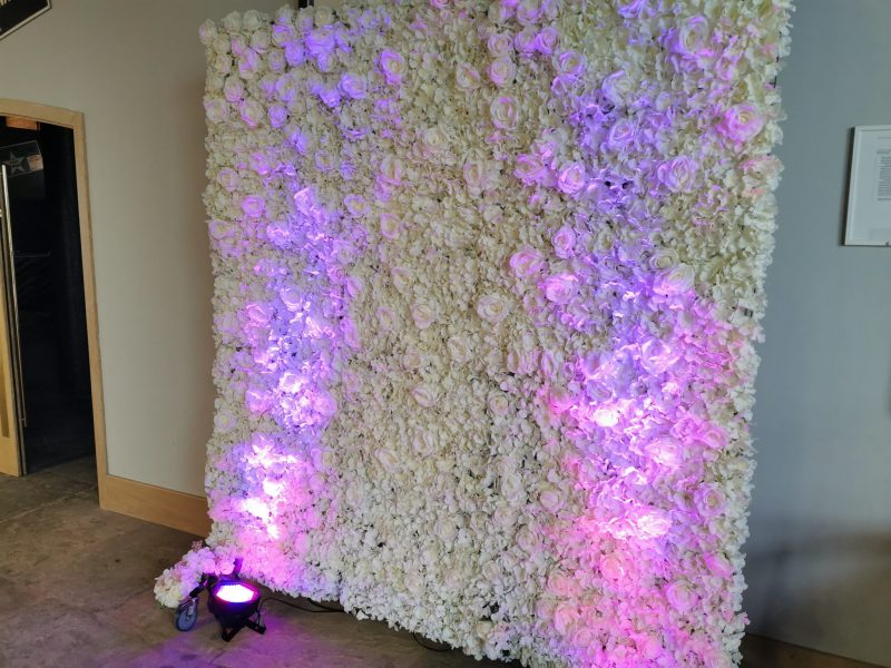 Flower Wall Hire, Chester – Glamour Events Hire'