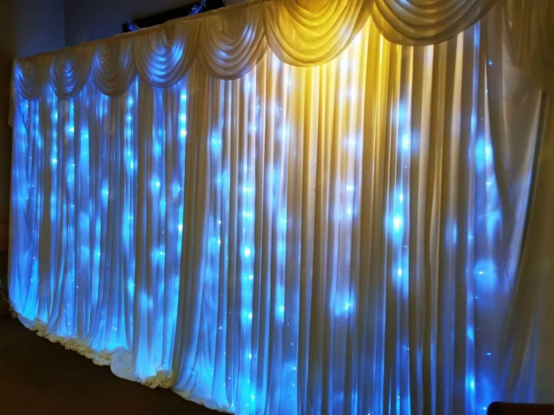 starlit backdrop chester, glamour events hire