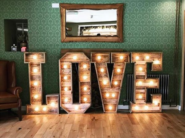 Rustic Love letters chester
