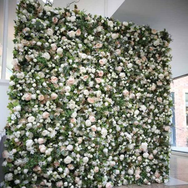 flower wall with foliage chester