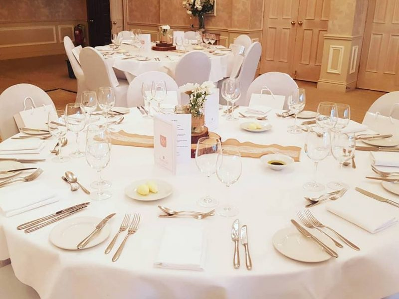 table linen, rowton hall hotel chester