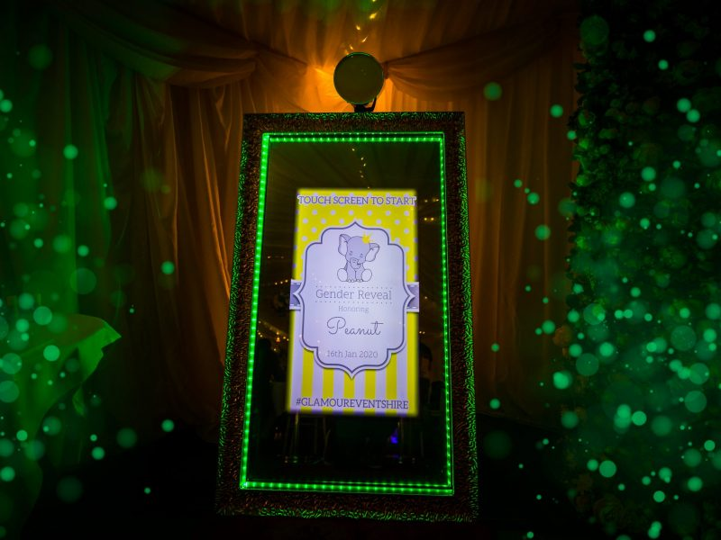 selfie mirror photo booth for weddings, corporate events and parties based in chester