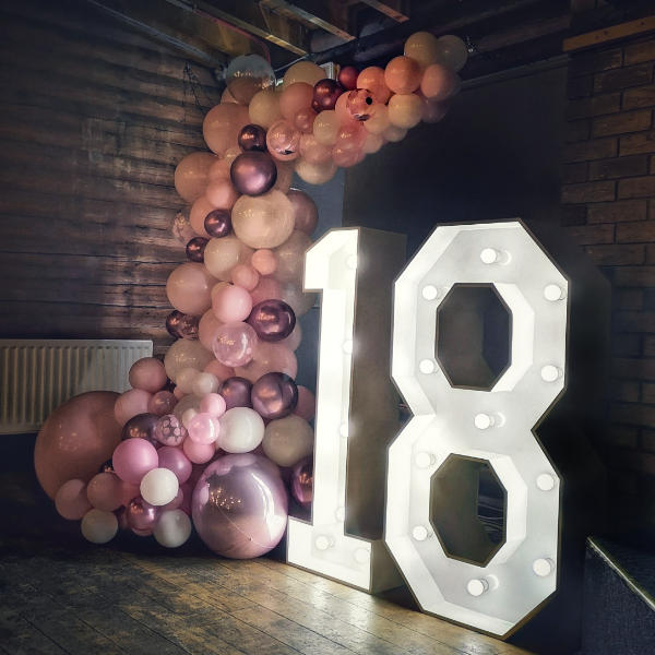 light up 18 with balloons