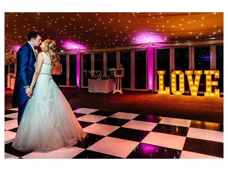 light up love letters for weddings in chester